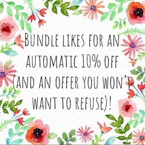 Multiple items you like? Bundle them!